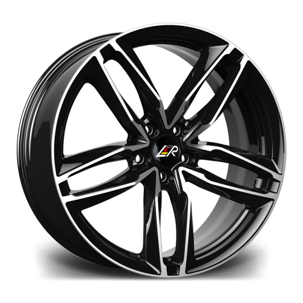 LMR ZEUS BLACK POLISHED 18""